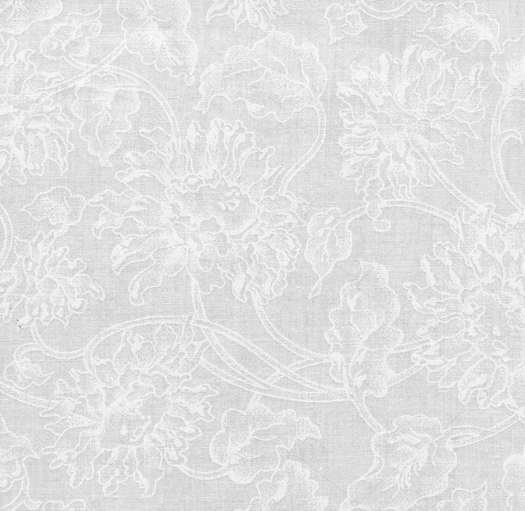 High resolution white fabric with floral pattern for background ...