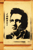 Fotografie Schablone Grafitti Johnny cash