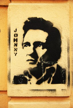 Stencil grafitti Johnny Cash