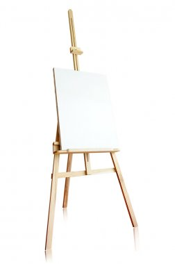 Isolated tripod and canvas