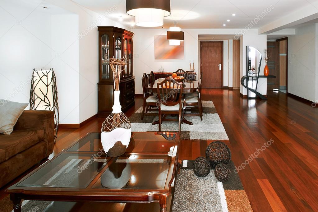 Dise o de interiores sala de estar y comedor foto de for Sala de estar y comedor