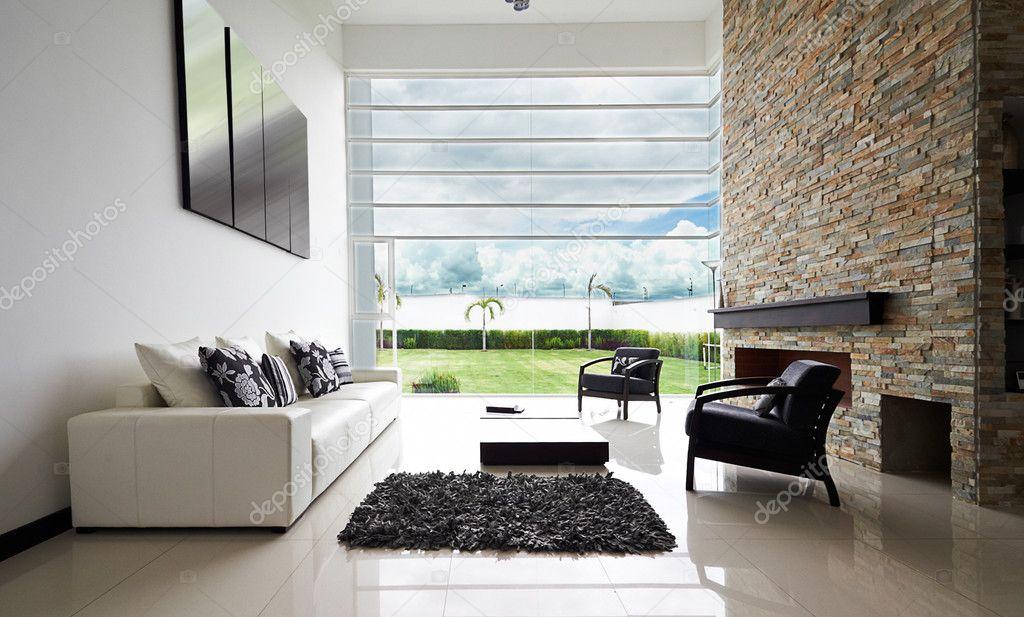 Innenarchitektur-Serie: moderne Wohnzimmer — Stockfoto © scornejor ...