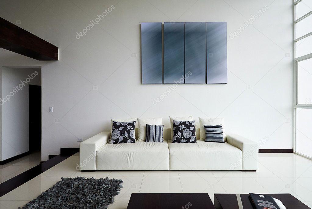 Interieur ontwerp serie: moderne woonkamer — Stockfoto © scornejor ...