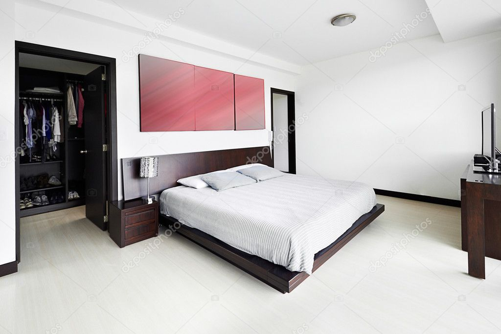 Interieur ontwerp serie: moderne slaapkamer u2014 stockfoto © scornejor