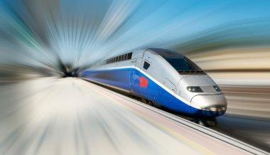 """Картина, постер, плакат, фотообои """"высокоскоростной размытый поезд """", артикул 19421307"""