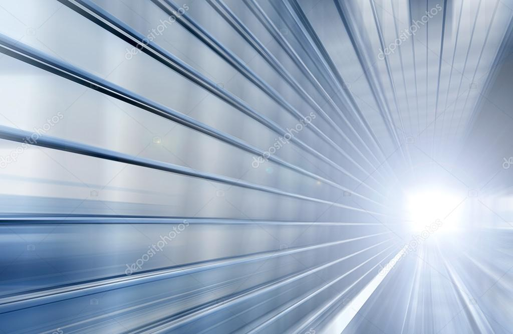 Speed motion blue tunnel moving fast concept