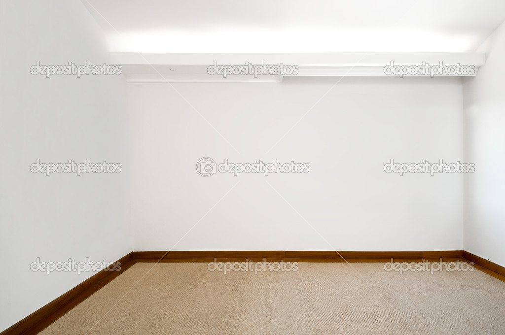 leerer wei er raum mit teppichboden stockfoto scornejor 19471241. Black Bedroom Furniture Sets. Home Design Ideas