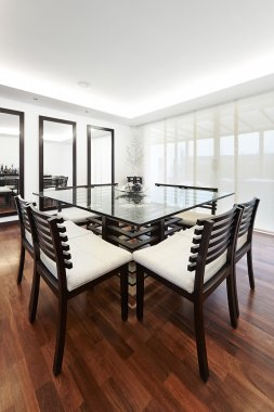 Interior design: Modern elegant dining room