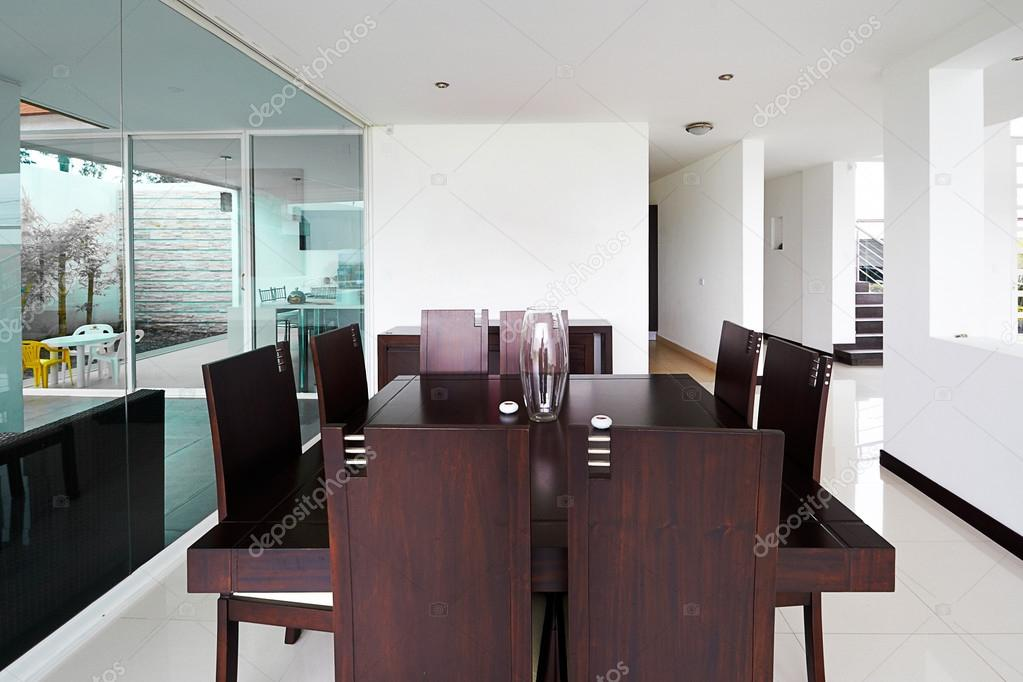 Serie di design d 39 interni sala da pranzo moderna con for Sala pranzo moderna