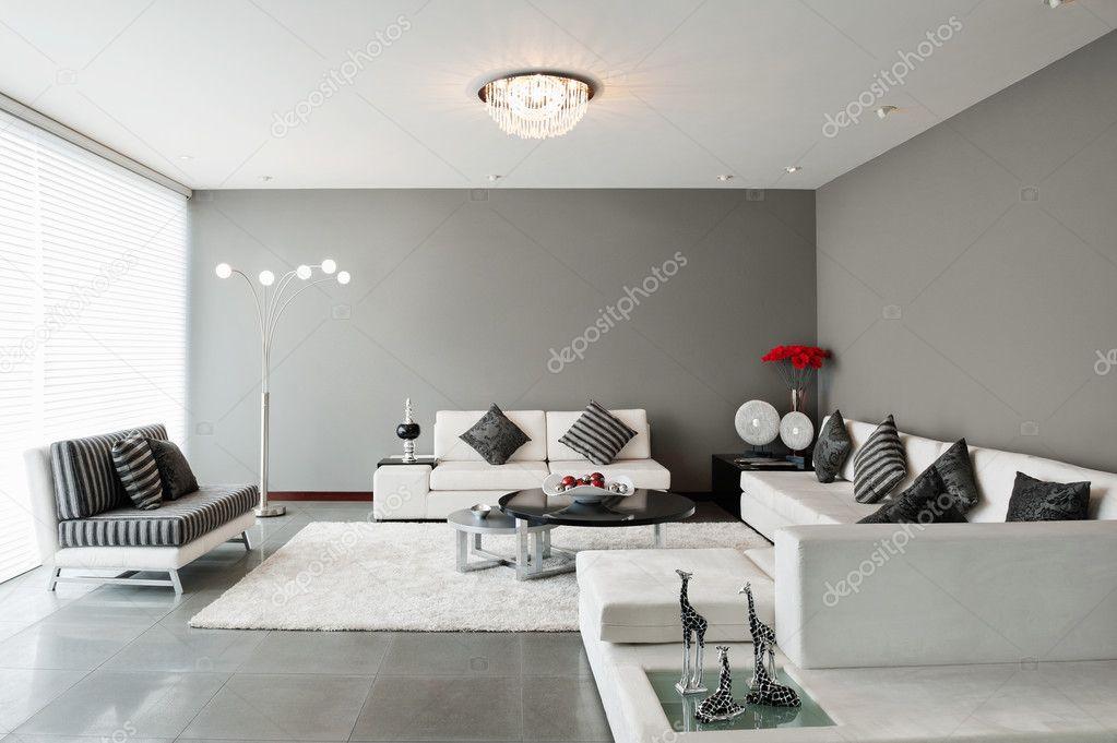 Interieur woonkamer met grote lege muur stockfoto scornejor 32851769 - Interieur muur ...
