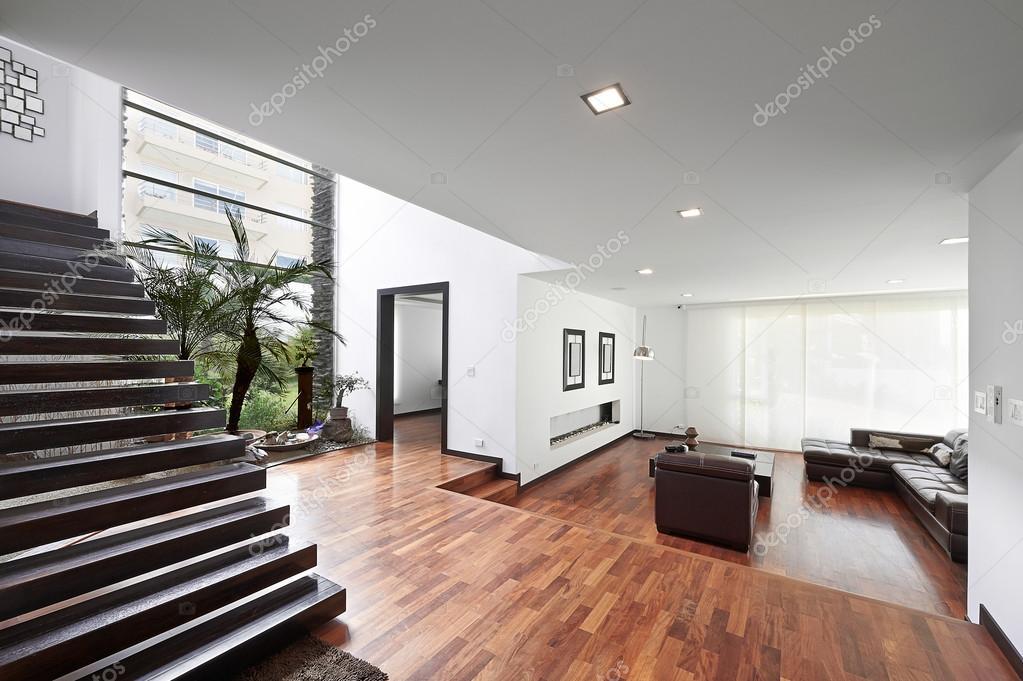 Interio design: Modern, nagy nappali — Stock Fotó © scornejor ...