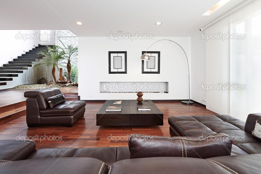 Interio Design: Modern Big Living Room U2014 Stock Photo