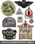 Szórakoztató Halloween svindli címkék állítva 4