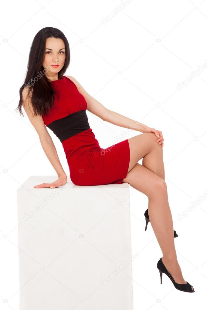 Vestidos rojos para mujeres delgadas