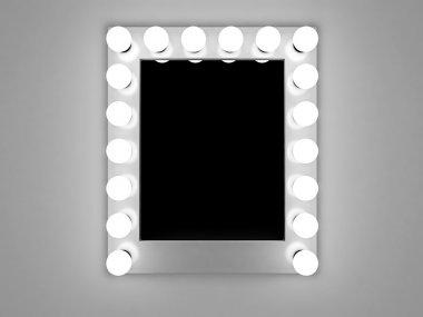 Backstage makeup mirror