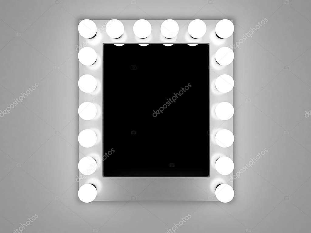 Backstage makeup mirror