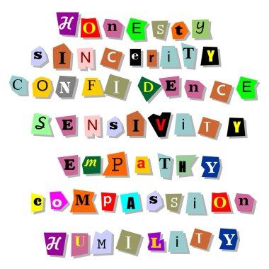 Honesty sincerity empaty