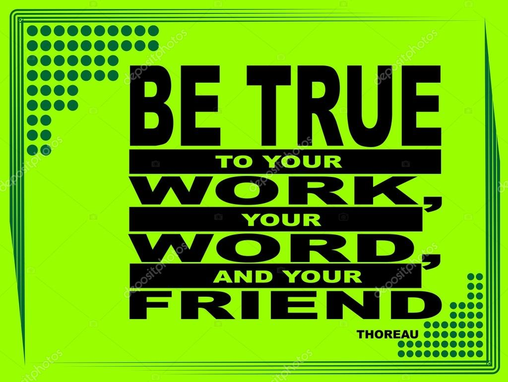 Ser Fiel A Tu Trabajo Frase Motivacional Archivo