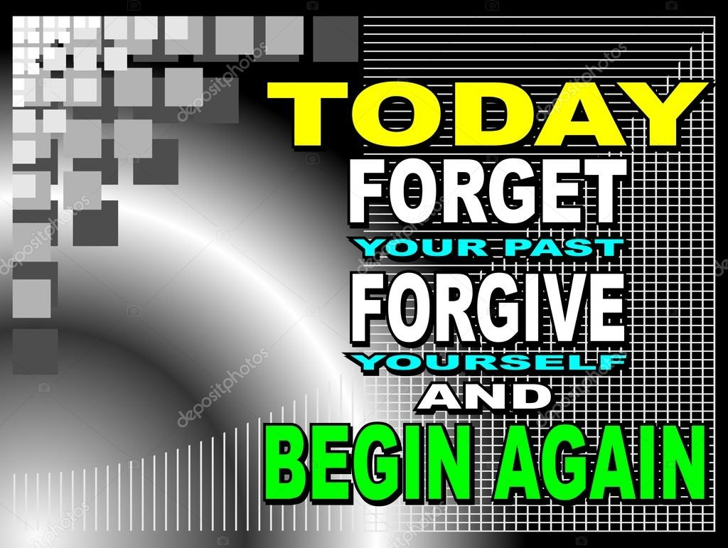 Hoy Olvidar Su Pasado Frase Motivacional Vector De Stock