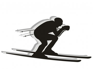Skiing competitor - Silhouette