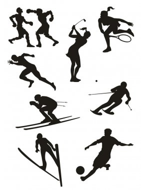 Sports Set - silhouettes