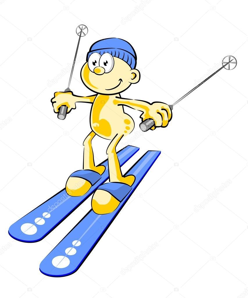 Lustige Skifahrer Stockvektor Photoestelar 29893261