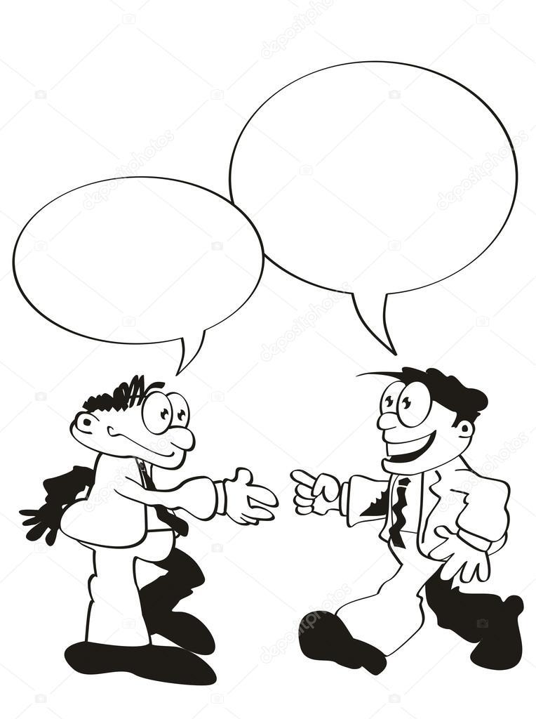 Диалог между двумя людьми знакомство