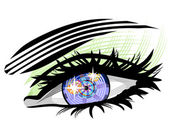 Elektronické oko ilustrace