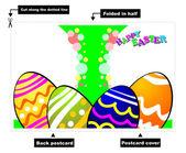 Fotografie Easter Eggs Card