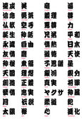 Photo Japanese Kanji and Tattoo words vol.2