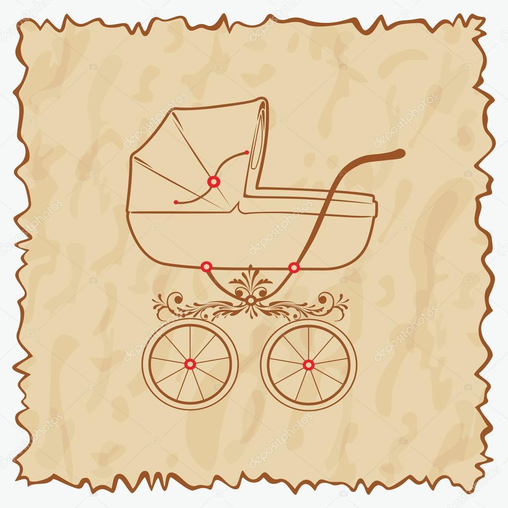 знаете, картинка для скрапбукинга колясочка второй