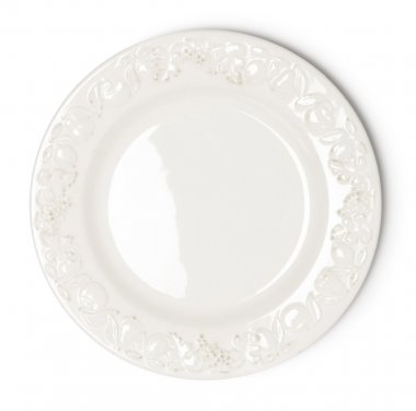 Vintage white empty plate
