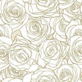 Fotografia modello senza saldatura eleganza con rose fiori