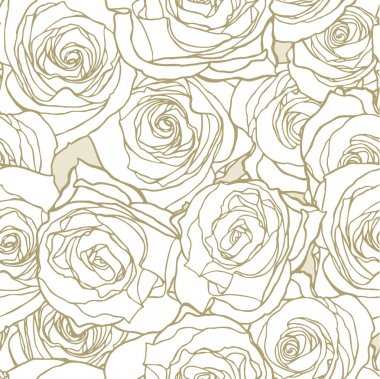 Elegance Seamless pattern with flowers roses, vector floral illustration in vintage style stock vector