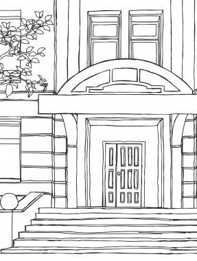 Building. hand drawing vector illustration.