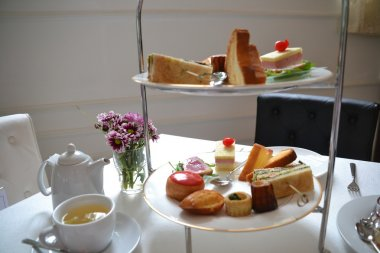 Afternoon tea pastries and cakes