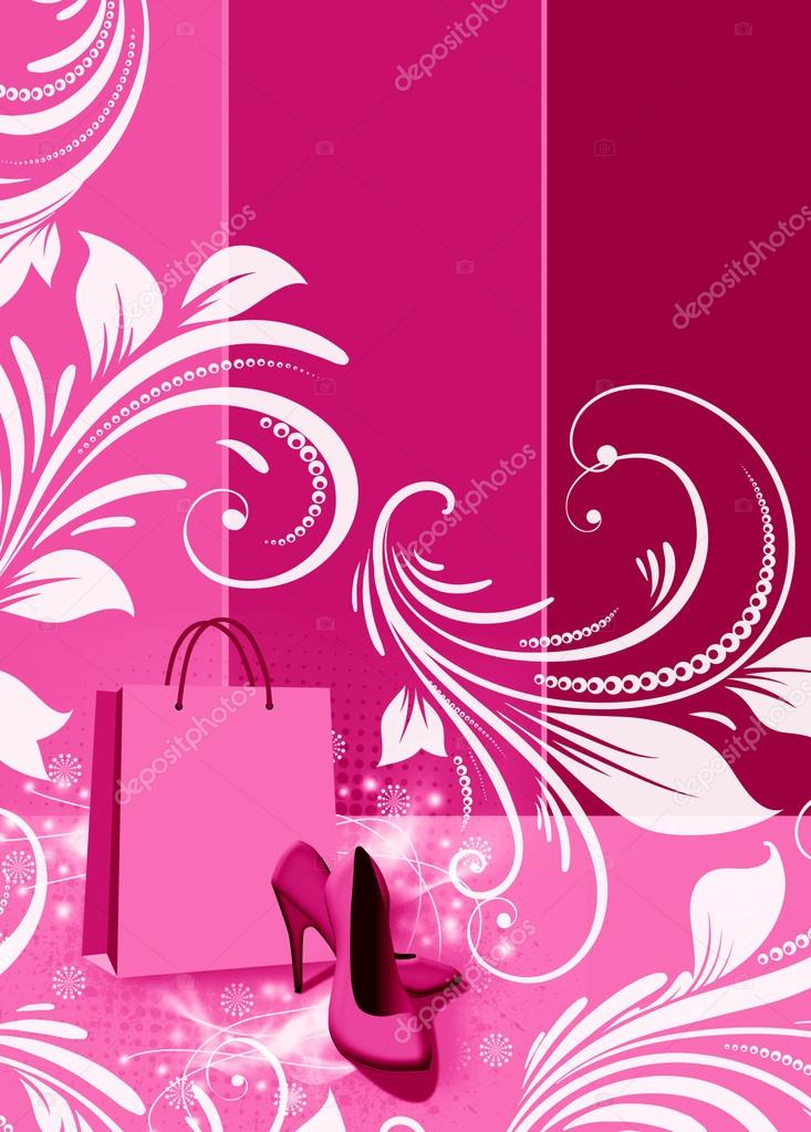 Abstract grunge Shoe shopping background with space