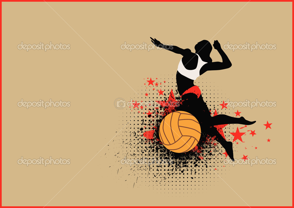 Abstract Grungy Background Volleyball Arrowhead Stock: Stock Photo © IstONE_hun #19566533