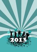 Rutsch ins neue Jahr Hintergrund