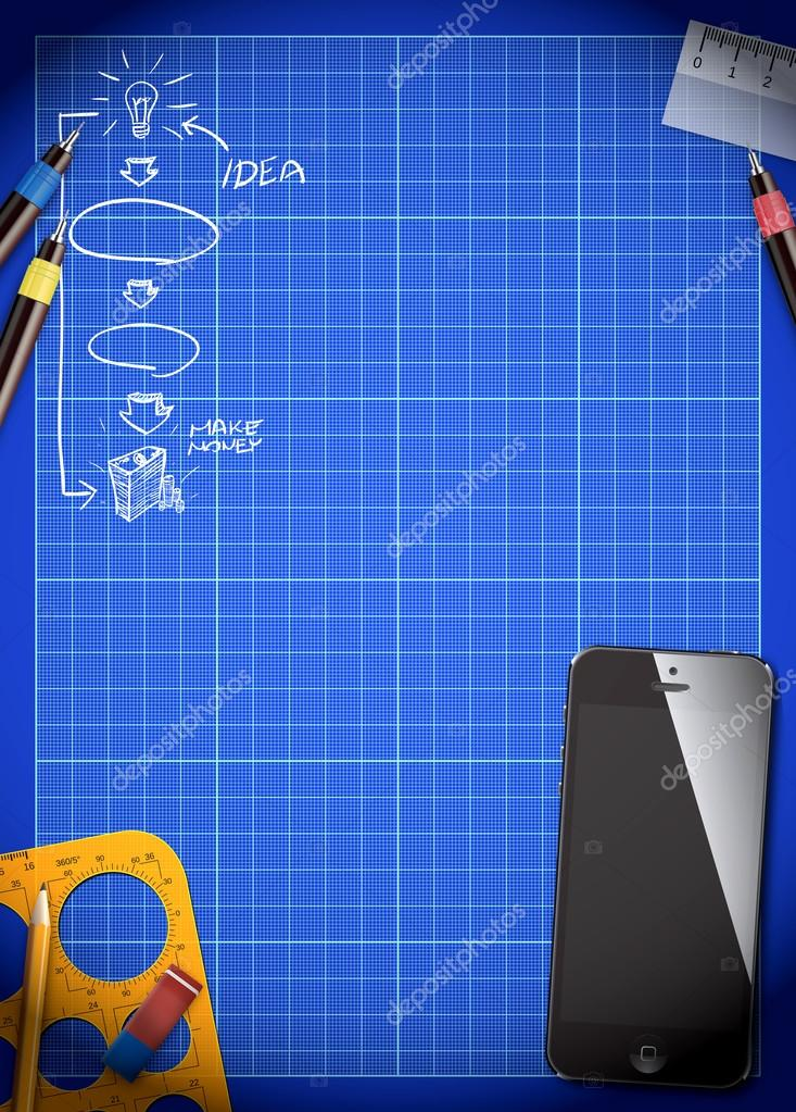 Business plan blueprint and smart phone background stock photo business plan blueprint and smart phone background stock photo malvernweather Choice Image