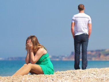 Couple had quarreled on the beach