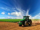 traktor v oboru