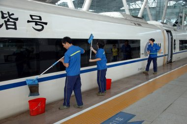 China - fast trains in Guangzhou