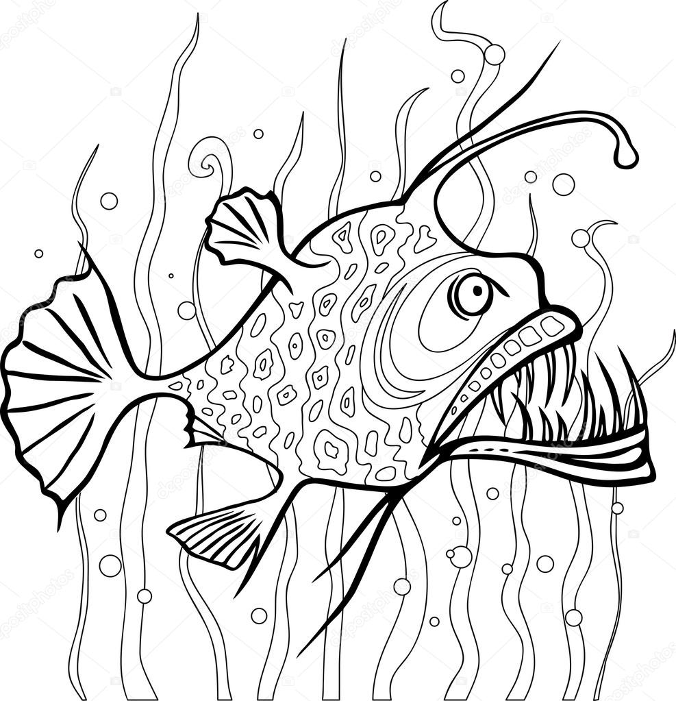 Seeteufel-Malseite — Stockvektor © Aleutie #47581741