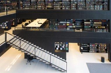 Modern interior of the Utrecht University library