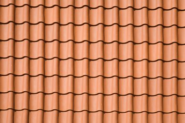 Clay tiled roof top pattern