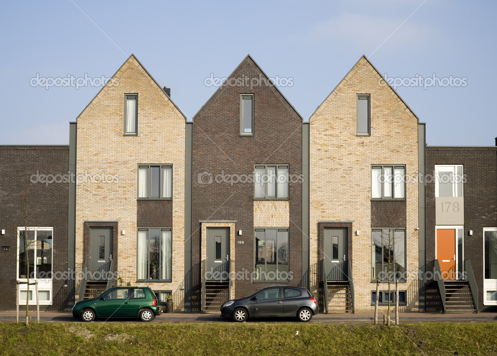 New houses in traditional style in vathorst amersfoort the netherlands stock photo - Houses traditional style ...