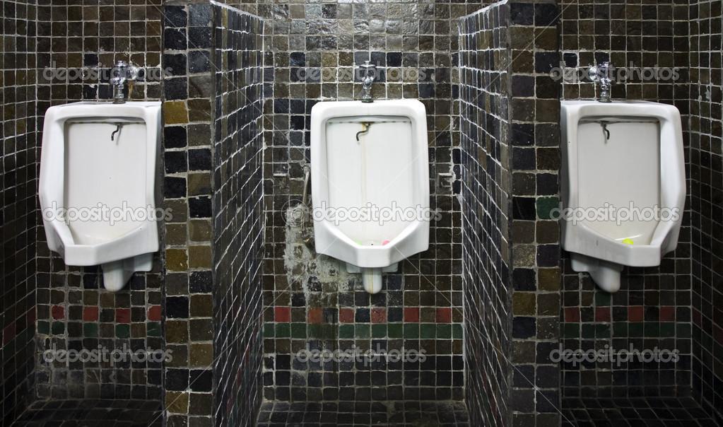Antique urinal in Bank Mandiri, Jakarta, Indonesia — Stock Photo ...