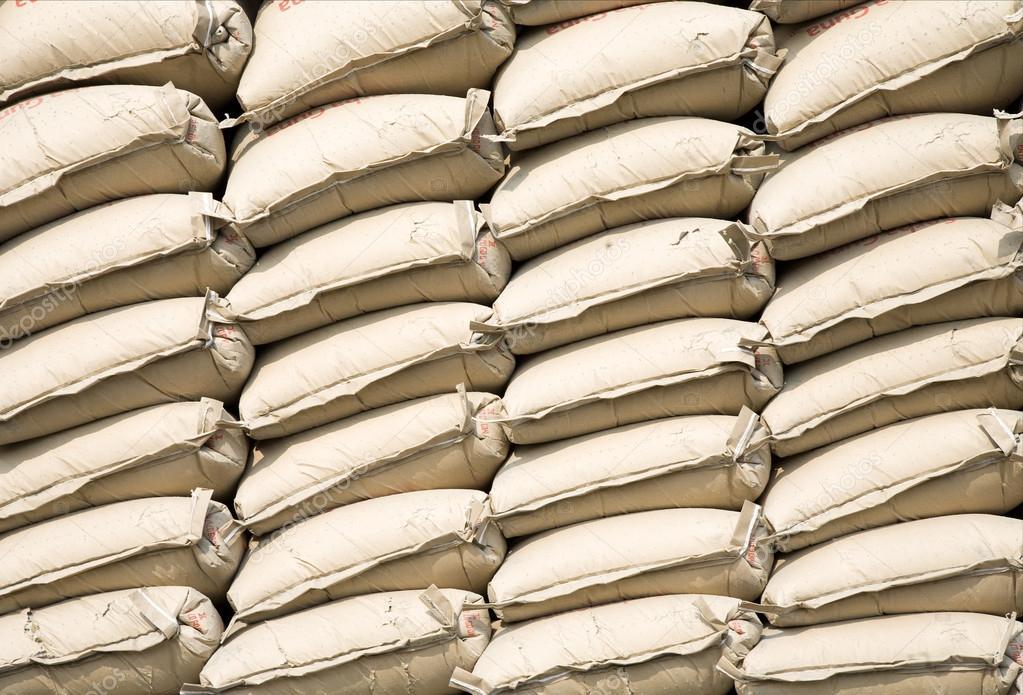 Stack of cement bags in Sunda Kelapa, Jakarta