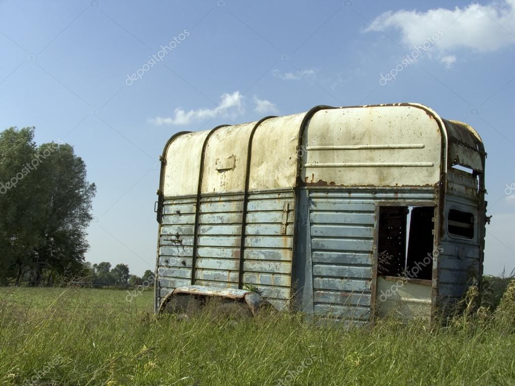 Old abandoned horse trailer